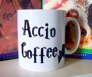 harry potter, coffee, and accio image