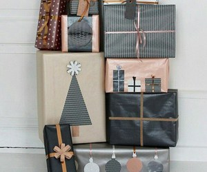 christmas, gift, and copper image
