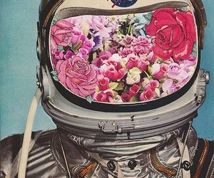 flowers, nasa, and astronaut image