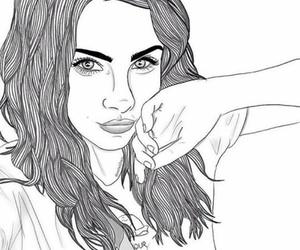 cool, drawings, and girl image