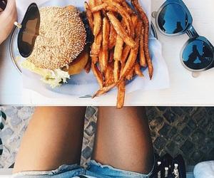 food, yummy, and burger image