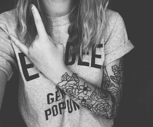 girl, tattoo, and justme image