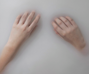 grunge, hands, and white image