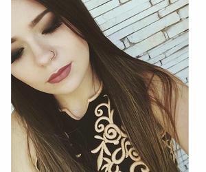 beautiful girl, girl, and makeup image