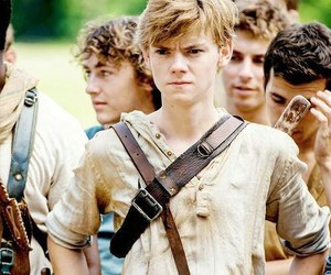newt, the maze runner, and thomas sangster image