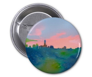 button, new york city, and zazzle image
