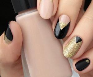 beautiful, nail, and black image