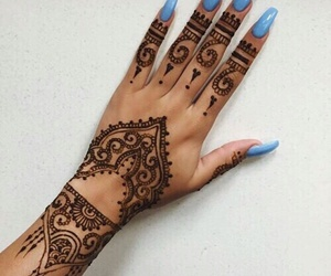 nails, henna, and blue image