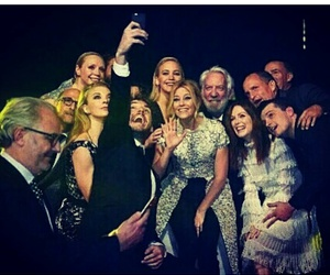 cast, the hunger games, and Jennifer Lawrence image