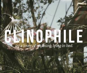 words, bed, and clinophile image