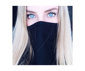 eyes, blue, and girl image