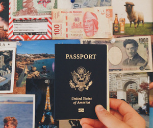 travel, passport, and place image