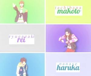 free, rin, and makoto image