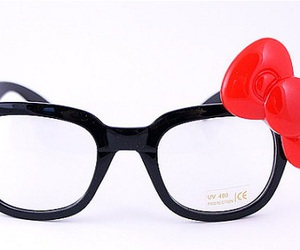 accessories, glasses, and hello kitty image