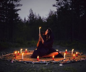 candle and nature image