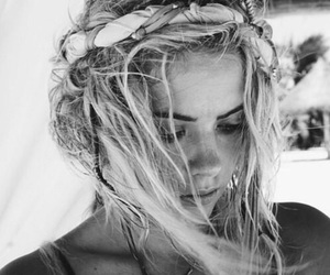 ashley benson, hair, and black and white image