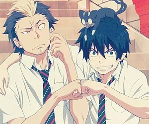 rin, blue exorcist, and ao no exorcist image