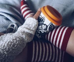 cardigan, christmas, and coffee image
