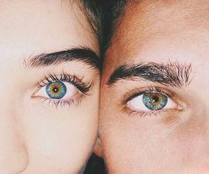 eyes, couple, and blue image