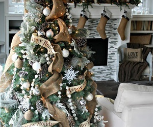 christmas, christmas tree, and home image