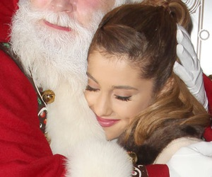 ariana grande, christmas, and santa image