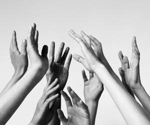 hands blackwhite image
