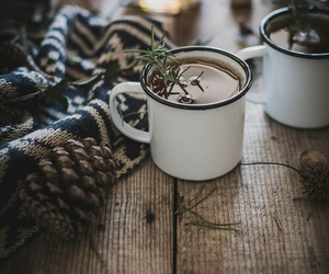 winter, tea, and coffee image