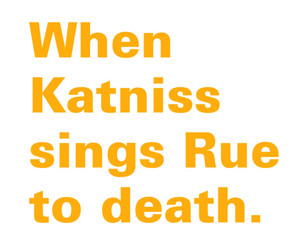 rue, text, and the hunger games image