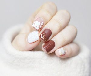 nails, brown, and white image