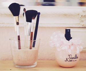 Brushes, girl, and cute image