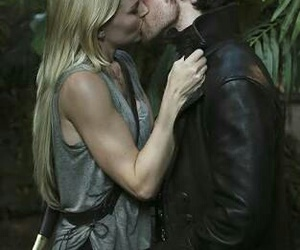once upon a time, kiss, and emma swan image