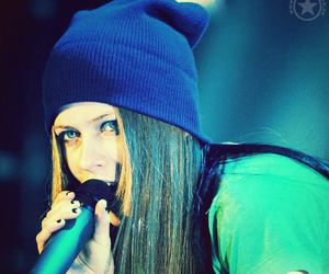 Avril Lavigne, girl, and sing image