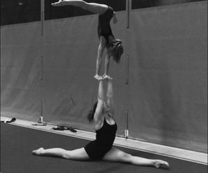 duo, gymnastics, and handstand image