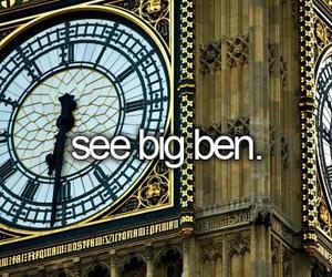 Big Ben, london, and bucket list image