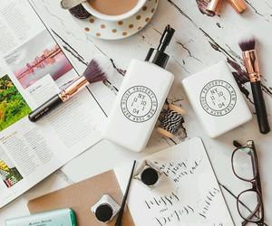 coffee, beauty, and make up image
