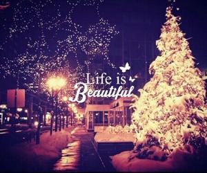christmas, snow, and light image
