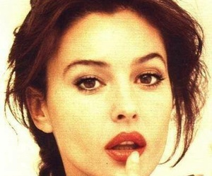 monica bellucci, beautiful, and red lips image