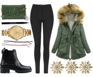 christmas, clothes, and coat image