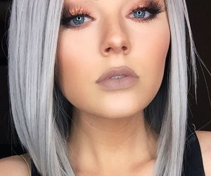 hair, wig, and grey image
