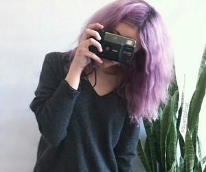 hair, camera, and grunge image