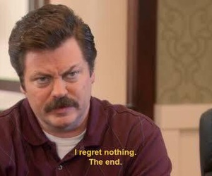 parks and rec and ron swanson image