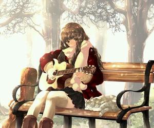 anime, guitar, and music image