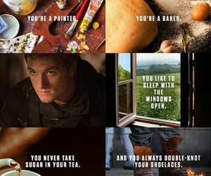 the hunger games, peeta mellark, and mockingjay image