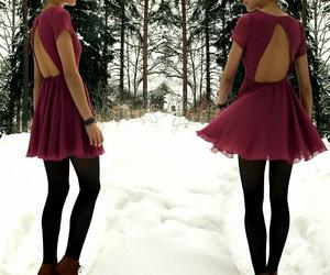 fashion, dress, and snow image