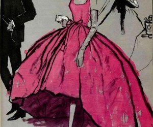 pink, art, and dress image