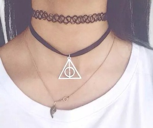 harry potter, grunge, and necklace image