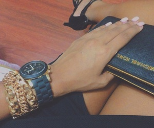gold, manicure, and mk image