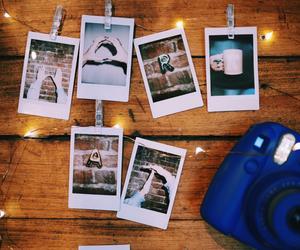 camera, christmas, and lights image