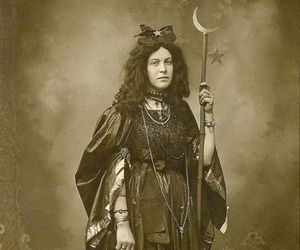 moon, vintage, and witch image