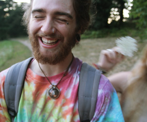 hippie, boy, and smile image